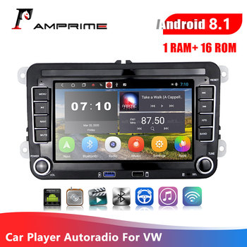 AMPrime 2 Din Android 8.1 Car radio GPS For VW/Volkswagen/Golf/Polo/Tiguan/Passat/b7/b6/SEAT/leon/Skoda Car Multimedia Player image