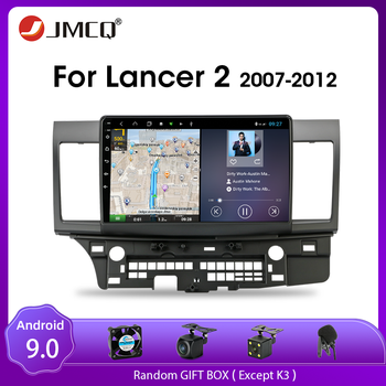 JMCQ Android 9.0 2G+32G Car Radio For Mitsubishi Lancer 2007-2012 Multimedia Video Player Navigation GPS 2Din DSP Car Dvd Player vtopek 2din 2 32g 4g net wifi car multimedia player for mitsubishi lancer 2007 2012 navigation gps auto android radio 2 din dvd