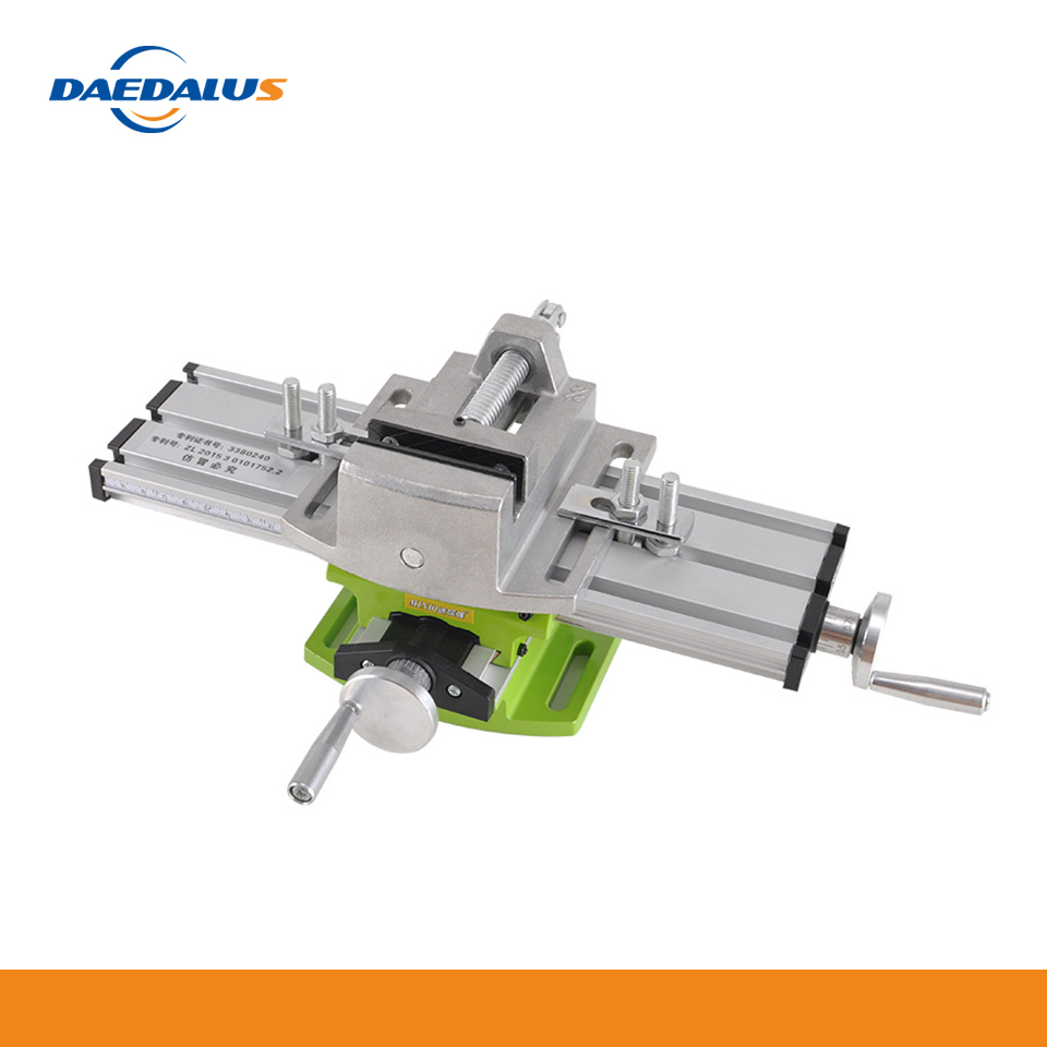 Daedalus 1pc 6300 Drill Table + 1pc 2.5 Inch Bench Vise Diy Home Use  Woodworking For Engraver CNC Machine Parts