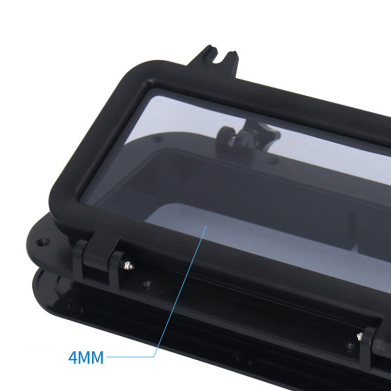 Yacht Rectangle Opening Window ABS with 4mm Tempered Glass Hatch Marine with Synthetic and Durable Rubber Seals also for RV//Industry Cars Boat Portlight Water Resistant Seal