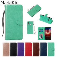Luxe PU Leather Flip Book Case Shell Cover voor Xiao mi mi 9 t 9 SE 8 LITE A1 A2 lite Rood mi 7 6 K20 NOTE 7 6 pro 4 4X(China)