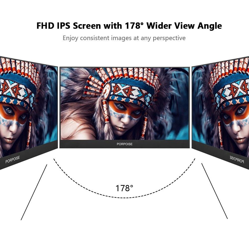 Многофункциональный удобный 17,3 дюймовый ips 178 ° HDMI высокой четкости портативный дисплей 1080p расширенный экран мониторинга PS3/PS4/xbox