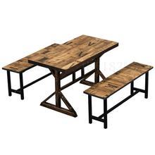 Ретро Простой Закусочная быстро обеденный стол и стул комбинации Горячий Горшок стол и стул ресторан барбекю Эконом лапши restau