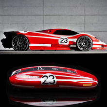 Чехол для ключей для автомобиля Porsche Panamera Cayenne 971 911 9YA Macan Boxster, чехол для ключей, глянцевый чехол для брелка с дистанционным управлением No.23 red racing style
