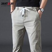 Мужские прямые брюки Jantour, Классические деловые модные тонкие брюки цвета хаки, повседневные брюки высокого качества, 2020
