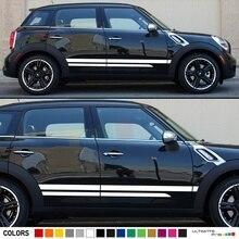 Для набора гоночных боковых полос виниловые наклейки, совместимые с Mini Countryman R60 Cooper S, D, ALL4, One, SD, JCW автомобильный Стайлинг