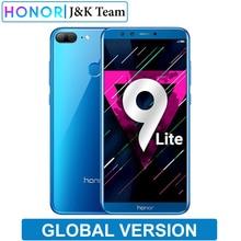 "Honor 9 Lite Global Version 5.65 ""หน้าจอดู 2160 * 1080Pix สมาร์ทโฟน OCTA Core 4 กล้อง 13MP โทรศัพท์มือถือโทรศัพท์"