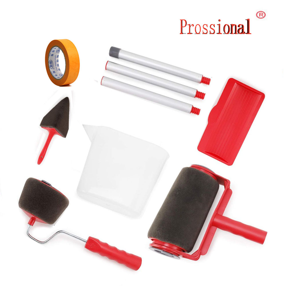 9pcs no seam <font><b>paint</b></font> <font><b>roller</b></font> pro brush set <font><b>Paint</b></font> Runner <font><b>paint</b></font> runner <font><b>roller</b></font> Wall Painting for Home Office Building Wall <font><b>Paint</b></font> Roll image