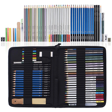 51 Piece Drawing Pencils, Colouring Pencils and Sketch Pencils Set with Drawing Tool in Pop Up Zipper Case - Ideal Gift csqb024 24 in 1 colored drawing pencils set