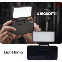 Beauty Shoot-Mini Luz de relleno LED para vídeo, luz de relleno portátil para teléfono móvil, batería integrada para cámara de fotos, estudio, Flashes para teléfono móvil