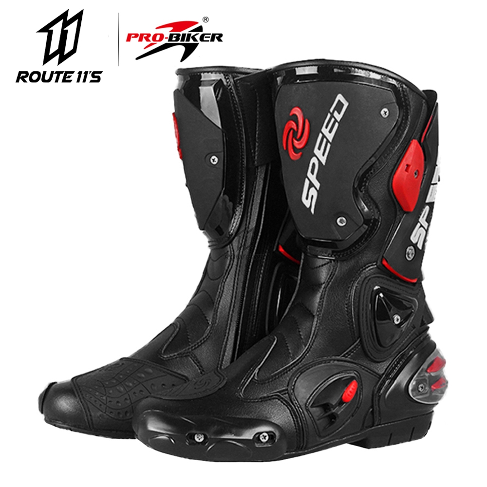 PRO-BIKER Motorcycle Boots Men Botas Moto Motorcycle Shoes Motocross Off-Road SPEED BIKER Motorbike Riding Boots