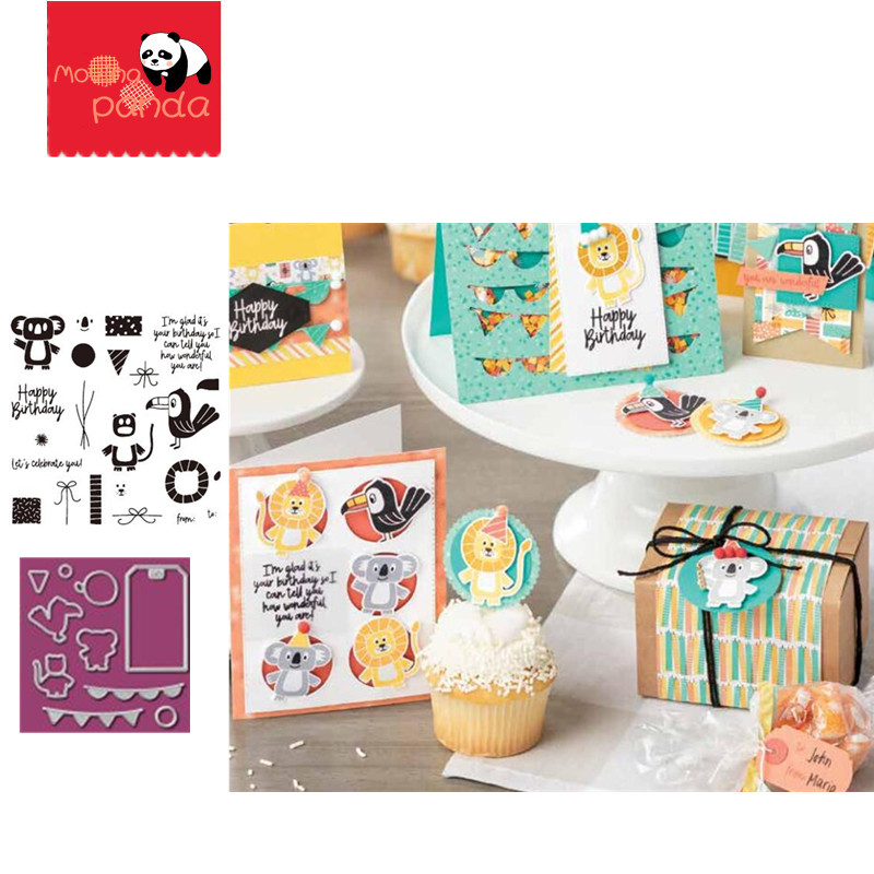 MP067 Animal Metal Cutting Dies And Stamps Scrapbooking Album Paper DIY Card Decoration Craft Embossing Die Cuts 2019 New