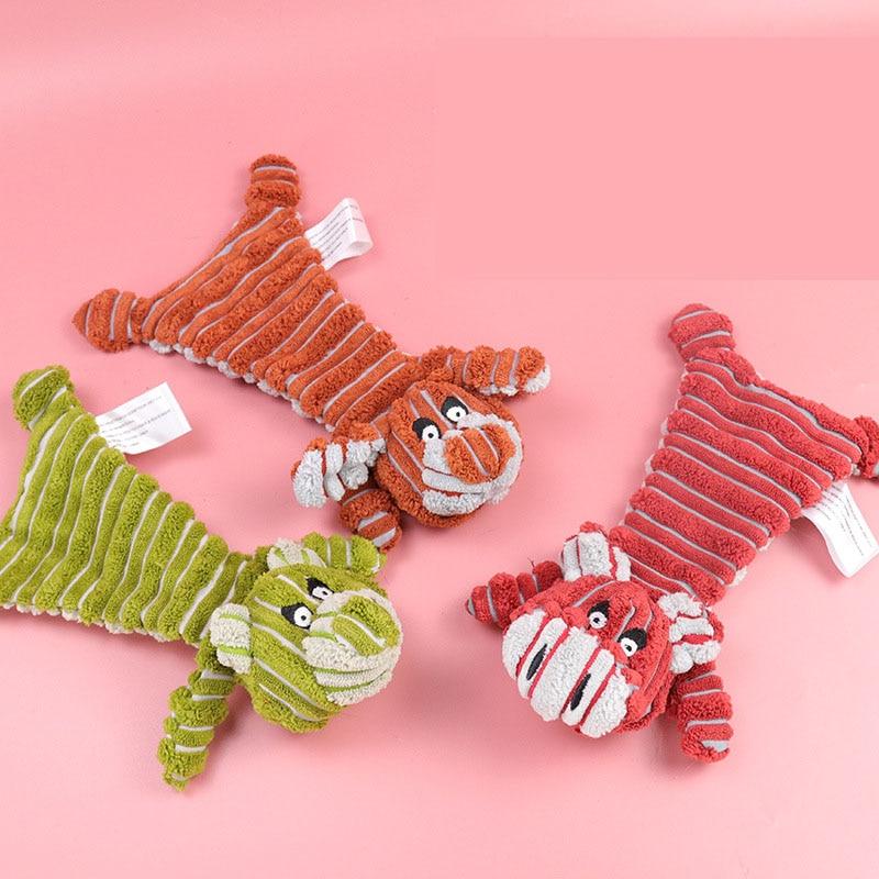 Игрушка для собак, льняная плюшевая игрушка для животных, пищалка для собак, шумовая игрушка для чистки зубов