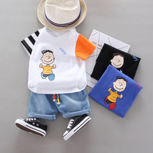 Kids Outfits Short-Sleeve Baby-Boys-Set T-Shirt Clothing Toddler Cotton Children Casual