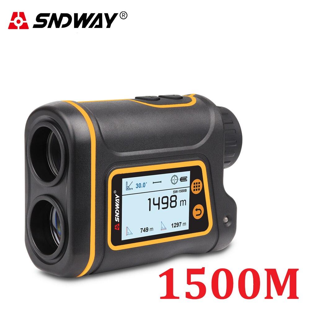 SNDWAY Телескопический лазерный дальномер для охоты, гольфа, спорта, 800 м/1000 м/1500 м, монокулярный дальномер, лазерный дальномер, инструменты