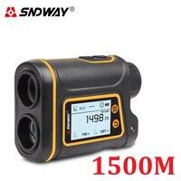 SNDWAY-Telémetro Láser telescópico para caza, Golf, deportes, 800M/1000M/1500M, telémetro Monocular, láser, medidor de distancia