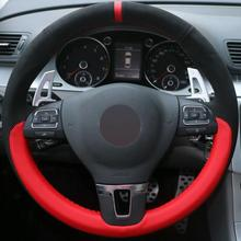 Car Steering Wheel Cover for VW Golf Tiguan Passat B7 CC Touran Jetta Mk6
