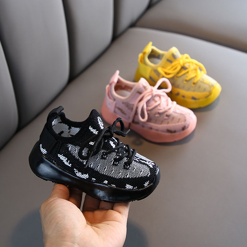 2020 Spring Autumn New  Children Shoes Unisex Toddler Boys Girls Sneakers Mesh Breathable Fashion Casual Kids Shoes Size 21-30