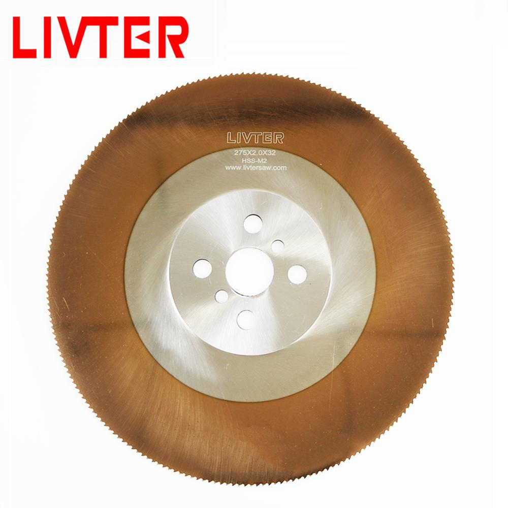 LIVTER Circular Saw Blade HSS Saw Blade TICN Coating Cold Saw Blade For Cutting Stainless Steel Pipe And Bar