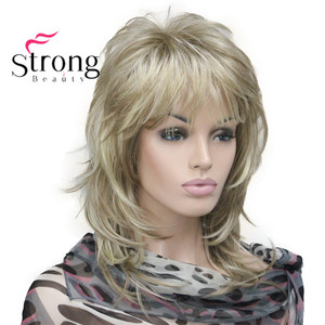 Image 2 - StrongBeauty sarışın vurgulanan uzun yumuşak katmanlı sevişmek sentetik peruk kadınlar için