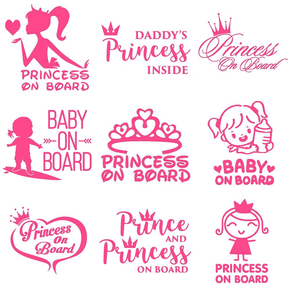 HungMieh ребенок на борту наклейки на авто дети на борту наклейка на авто принцесса на борту авто ак сессуары наклейки на машину