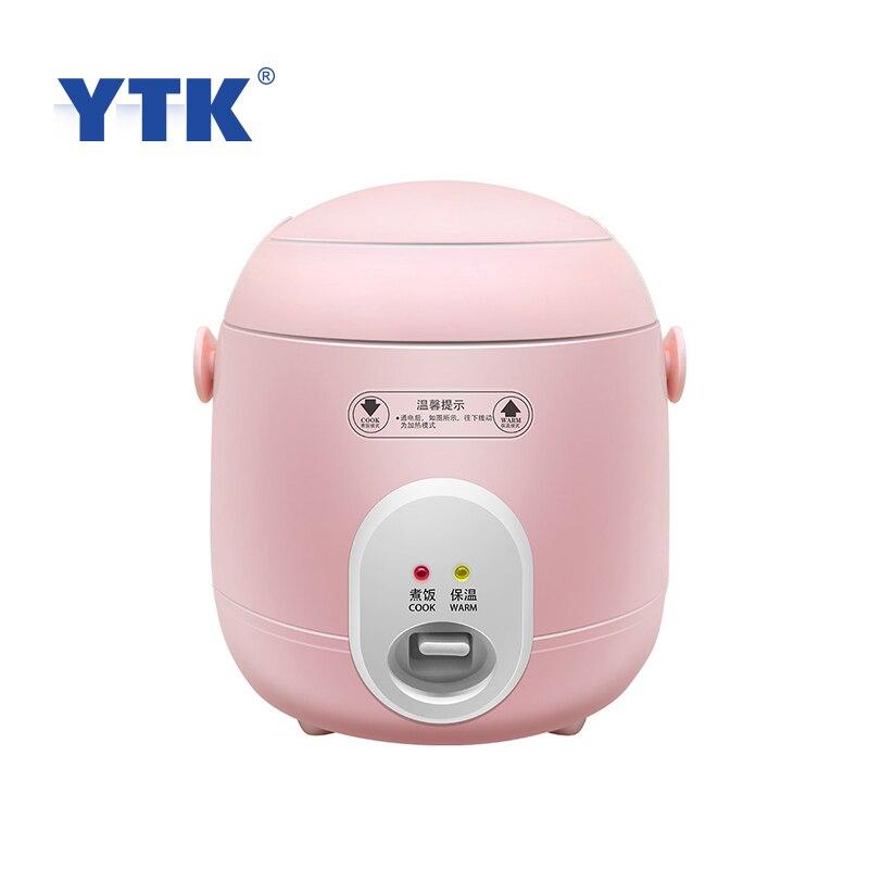 YTK 1.2L Mini Fornello di Riso A Casa Cibo Elettrica A Vapore Multi-funzione di Riscaldamento Fornello di Riso Adatto Per 1-2 le persone
