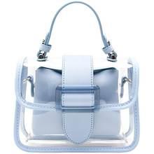 Модная летняя пляжная женская сумка для девочек прозрачная на