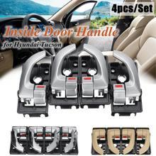 4Pcs Car Interior Maniglia Interna Della Porta Sinistra Destra Set di Ricambio Per Hyundai Tucson 2005 2006 2007 2008 2009 82620-2Z02