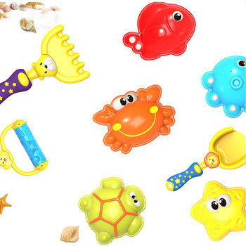 13pcs Baby Bath Toy Set Duck Crab Beach Swimming Toddler Water Toy Plastic Wheel Watering Bathroom Kinder Bath toys for Children new 1pc children baby bathing swim toy plastic bath water cup beach play toy