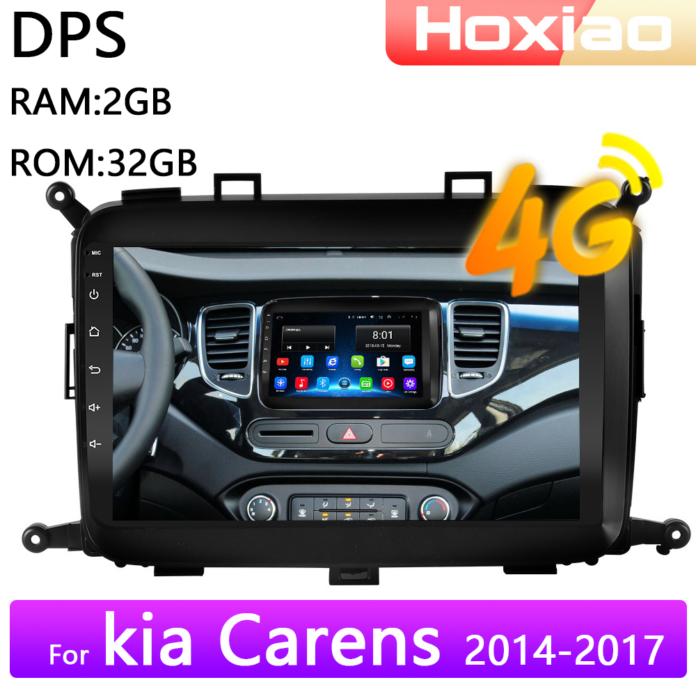 4g android 8.1 rádio do carro reprodutor de vídeo multimídia para kia carens 2014 2015 2016 2017 wifi ram 2g rom 32g navegação gps 2 din