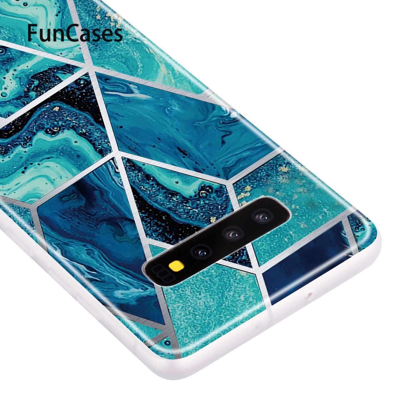 Carcasa de silicona blanda a la moda para Samsung S10 Plus, fundas de media envoltura, funda protectora para Samsung Galaxy S10 Plus