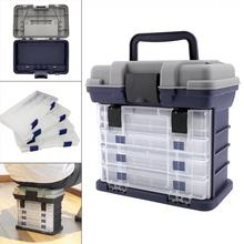 27 x 17 x 26cm 5 Layers Portable Carp Fishing Tackle Boxes Fishing Reel Line LureS Tool Storage Box цена и фото
