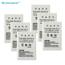 EN-EL5 ENEL5 EN EL5 Battery 1400mAh for Nikon Coolpix P90 P100 P500 P510 P520 530 P5000 P5100 5200 7900 P6000 Camera Batteries