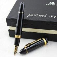 Jinhao 159 18kgp 0.7mm médio caneta tinteiro branco preto laranja azul amarelo 10 cores para escolher frete grátis