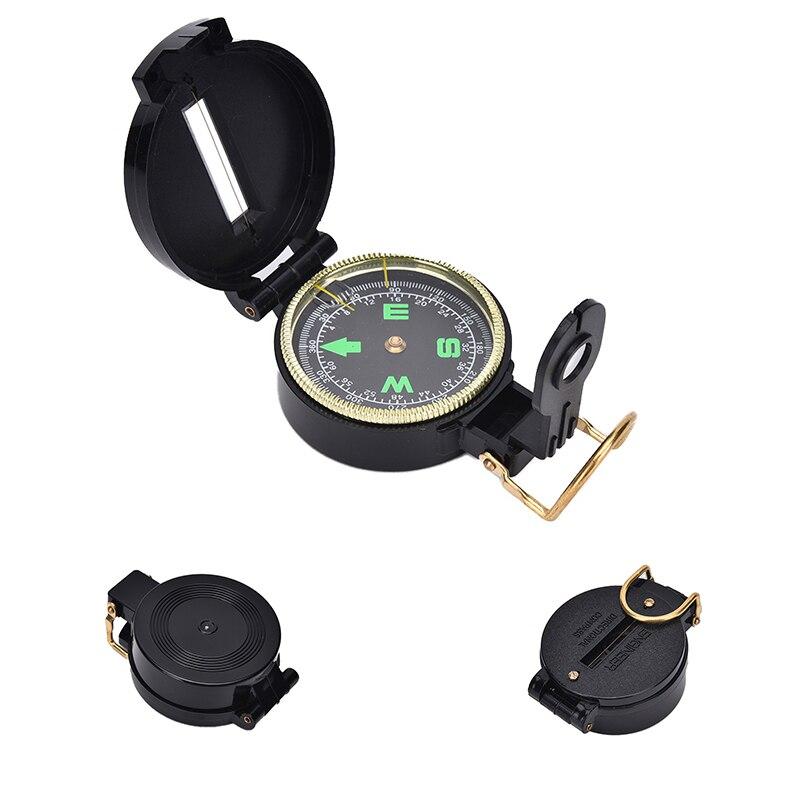 Компас портативный армейский зеленый складной объектив компас алюминиевая рама водонепроницаемый корпус компас открытый инструмент