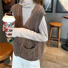 Rugod 2020 твист однобортный вязаный жилет свитер для женщин