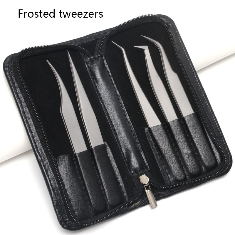 Frosted Tweezers High Precision Antimagnetic Anti Acid Tweezers Pro Tool For Eyelash Extension