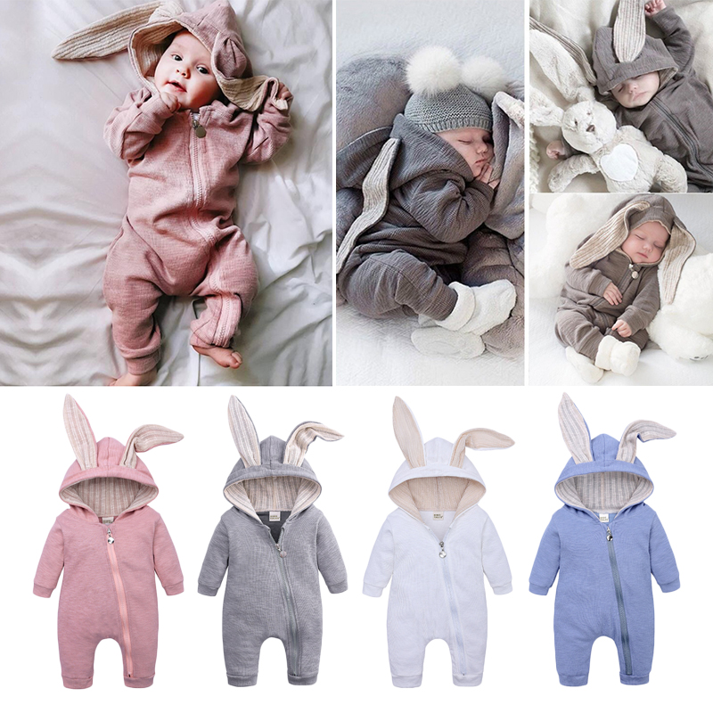 Baby   Romper   Jumpsuit Spring Baby Onesie Long Sleeve   Romper   Girl And Boy jumpsuit For Infant Cute Rabbit Baby Costume