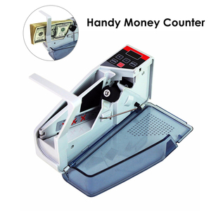 NEW Mini Portable Money Counter Handy Worldwide Bill Cash Banknote Count V40 Counting Machine Battery or AC Plug Powered AC/DC