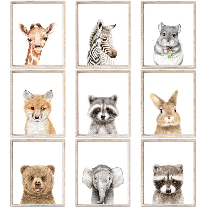 Clock Baby Animals Posters And Prints