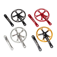 Bicycle Crankset Integrated Single Chainring Crankset 45T 47T 53T 56T 58T BCD 130mm for Folding Bike Bicycle Parts