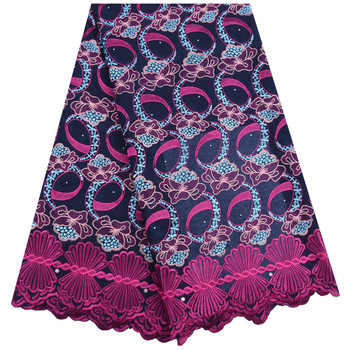2019 High Quality African Swiss Voile Lace In Switzerland Latest Nigerian Swiss Cotton Lace Fabric With Stones For Dress F1738