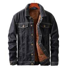 Winter Mannen Jas En Jas Warme Fleece Denim Jas Mode Heren Jean Jassen Uitloper Mannelijke Cowboy(China)