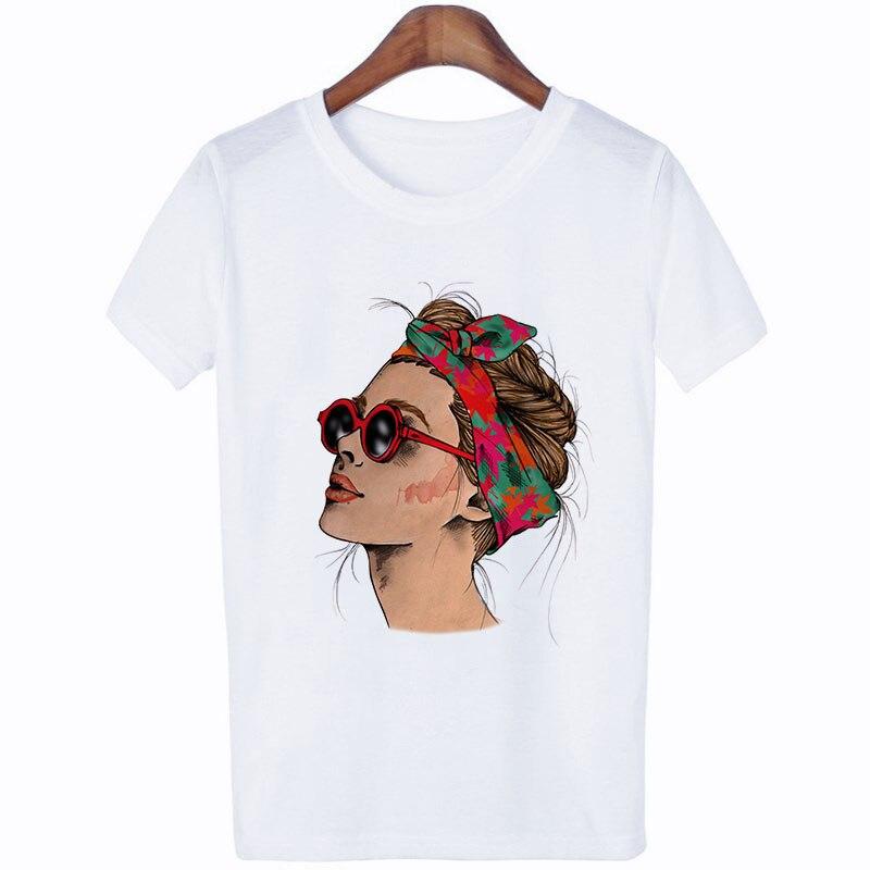 Women Summer Vogue Print Lady Casual T-shirt Tops Harajuku Ullzang Streetwear Short Sleeve O-Neck Tops Tees Camisetas Mujer