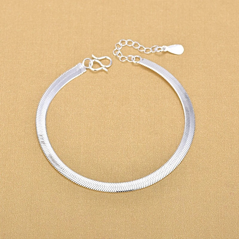 925 Sterling Silver Snake Bracelets Fashion Bracelets Simple Fashion Anklet Fine Jewelry For Woman 2020 Gift