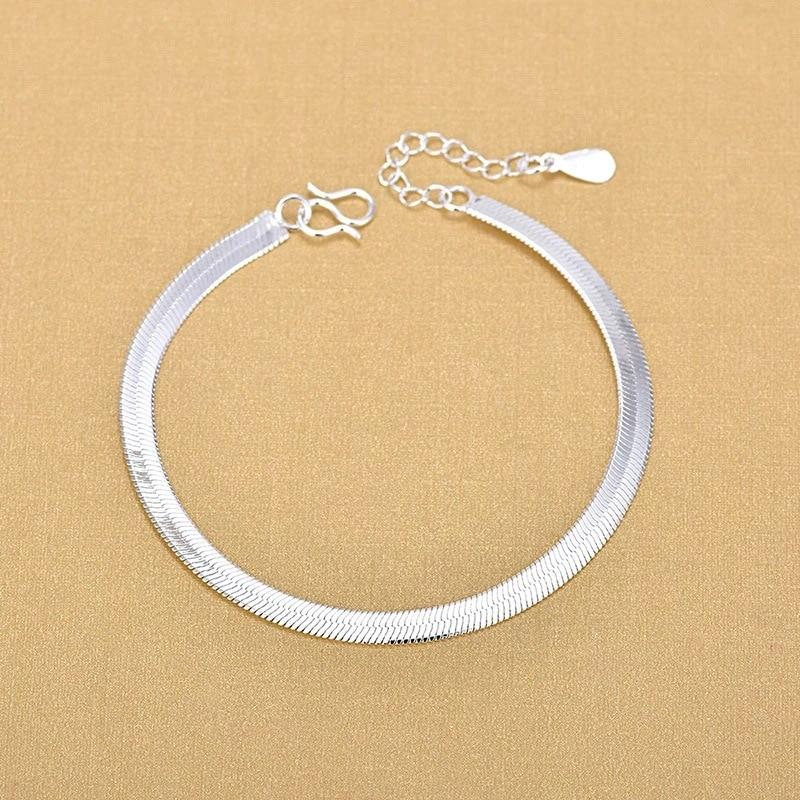 925 Sterling Silver Snake Bracelets Fashion Bracelets Simple Fashion Anklet Fine Jewelry For Woman 2020 Gift