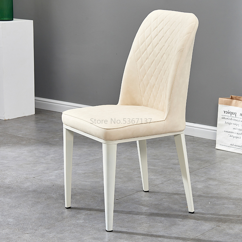 Modern Hotel Home Leather Chair Imitation Wood Technology Cloth To Talk About The Chair American Desk Soft Bag Restaurant Chair