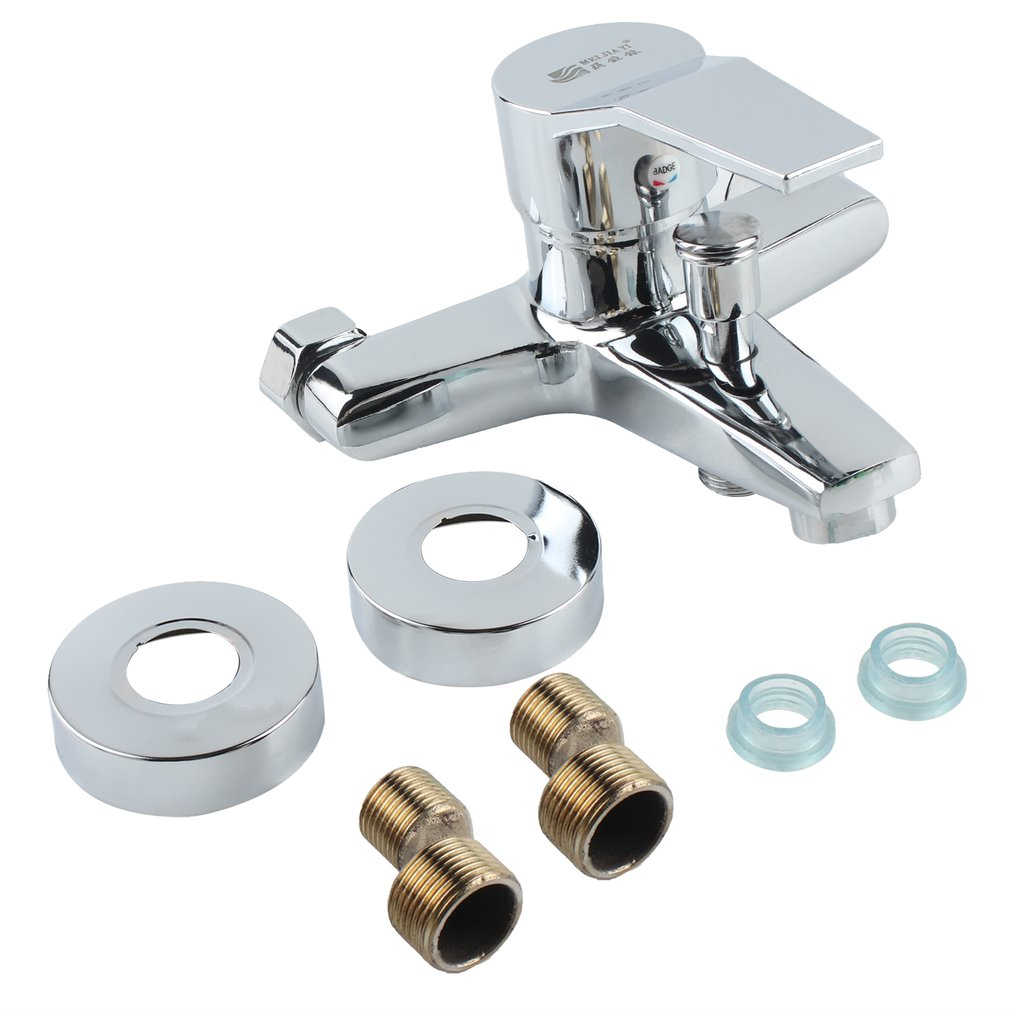 Shower Tap Bathtub Shower Faucet Triple Hot Cold Shower Faucet Wall-mounted Bathtub Faucet Water Tap For Bathroom