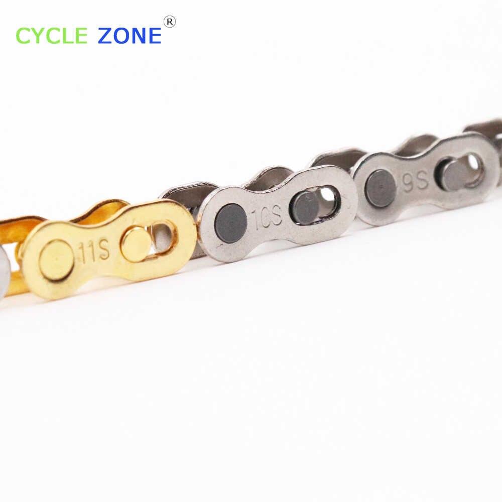 1 Pasang 11 S HILANG LINK 11 Kecepatan Perak Emas 6S 7 S 8S 9S 10S 11 S Kecepatan Rantai Shimano dan Campagnolo Hilang Link