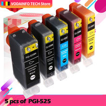 5 шт чернильный картридж для canon pgi 525 cli 526 pixma ip4850